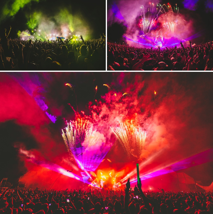 Festival photography at night
