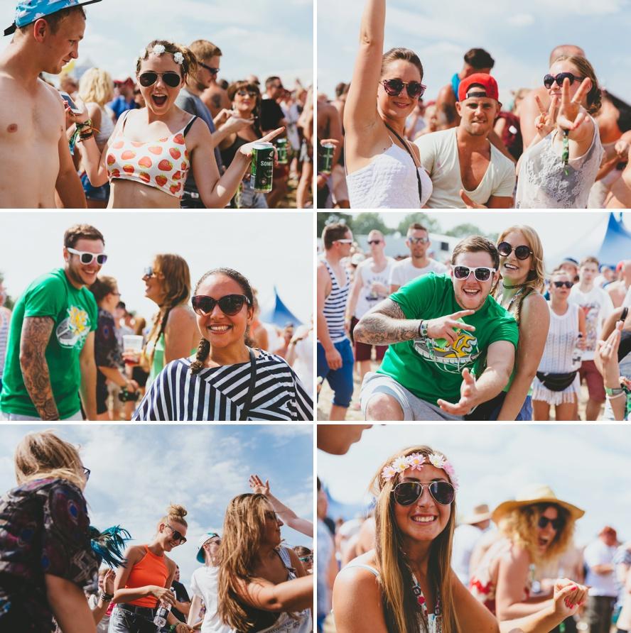 Festival punters dancing