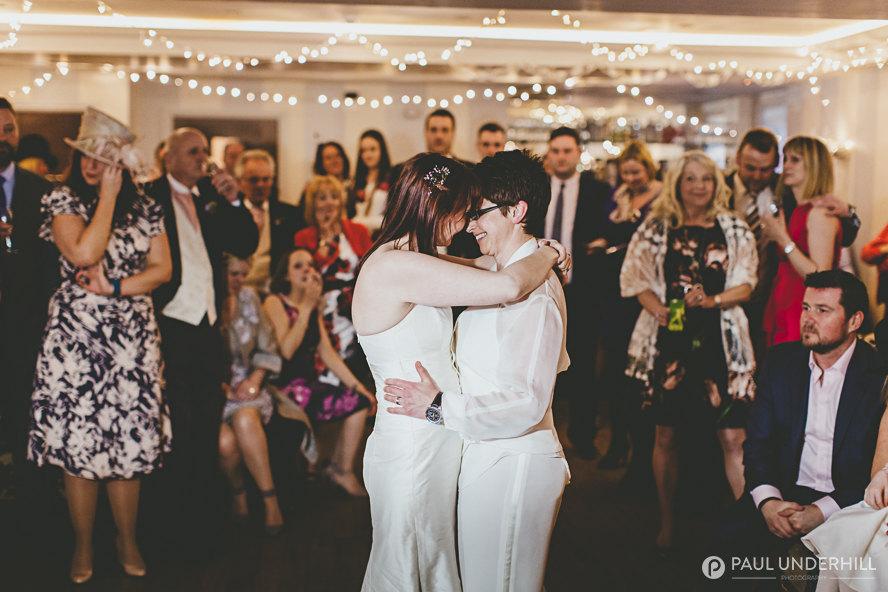 Brides first dance gay wedding