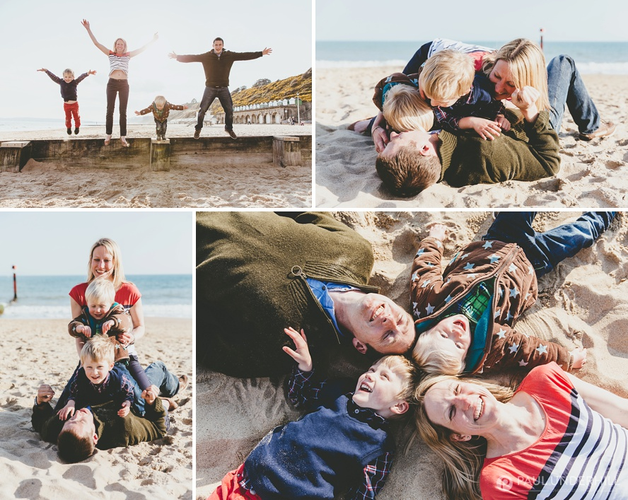 Fun family portraits Bournemouth