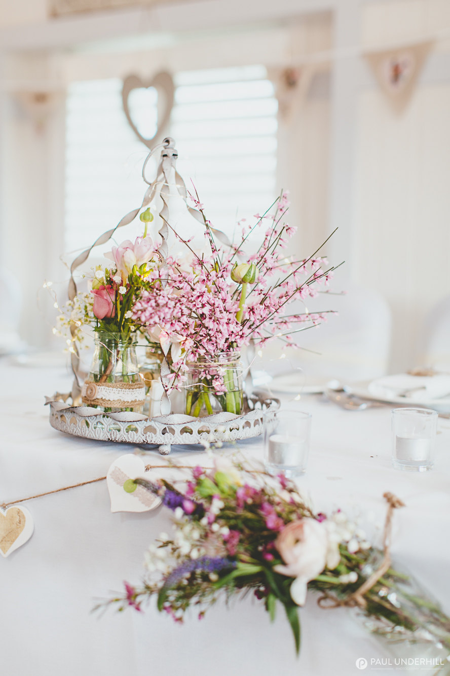 Table decorations wedding photography