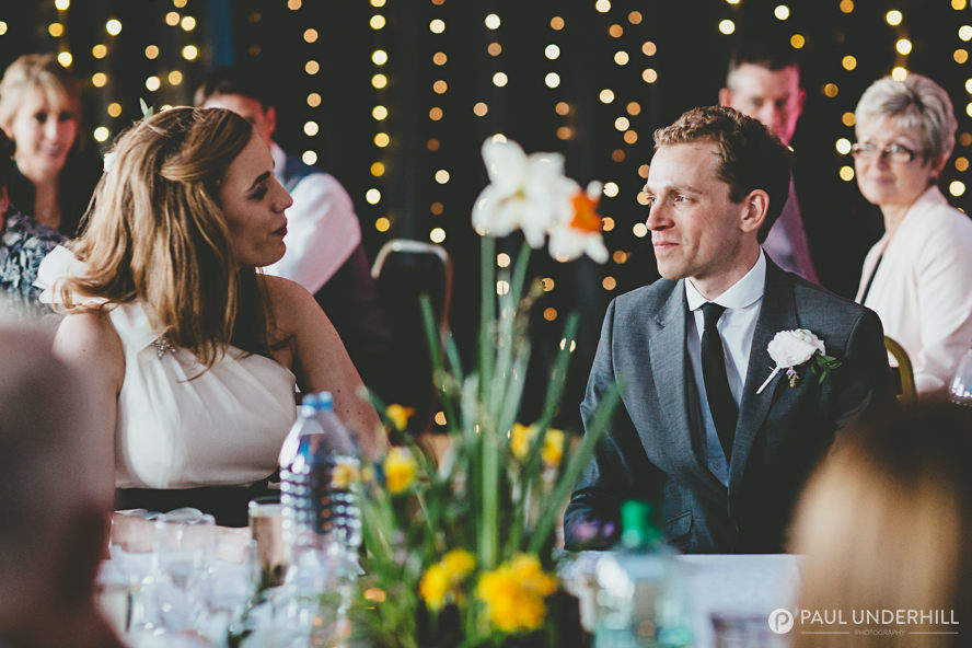 Bride and groom at their Dorset wedding