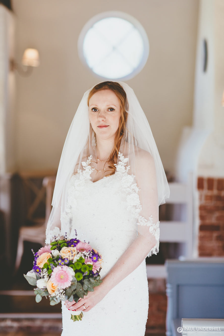 Bride portrait Sopley Mill Dorset