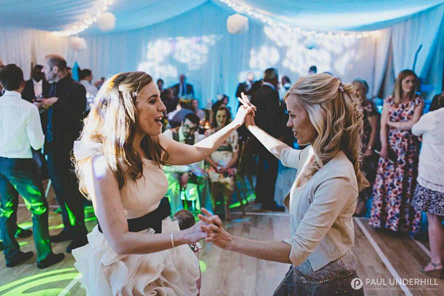 Guests dancing Dorset wedding