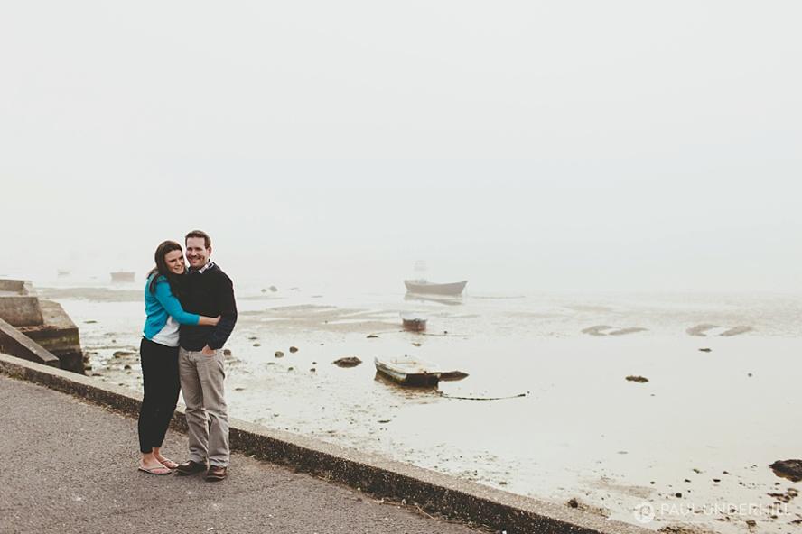 Misty sea fog in Sandbanks Poole