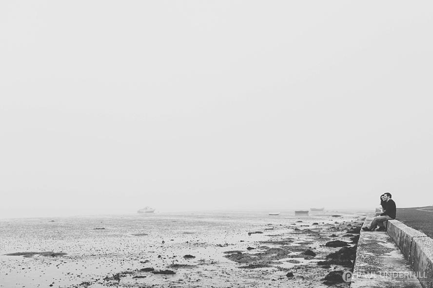 Sea fog Poole Bay Dorset