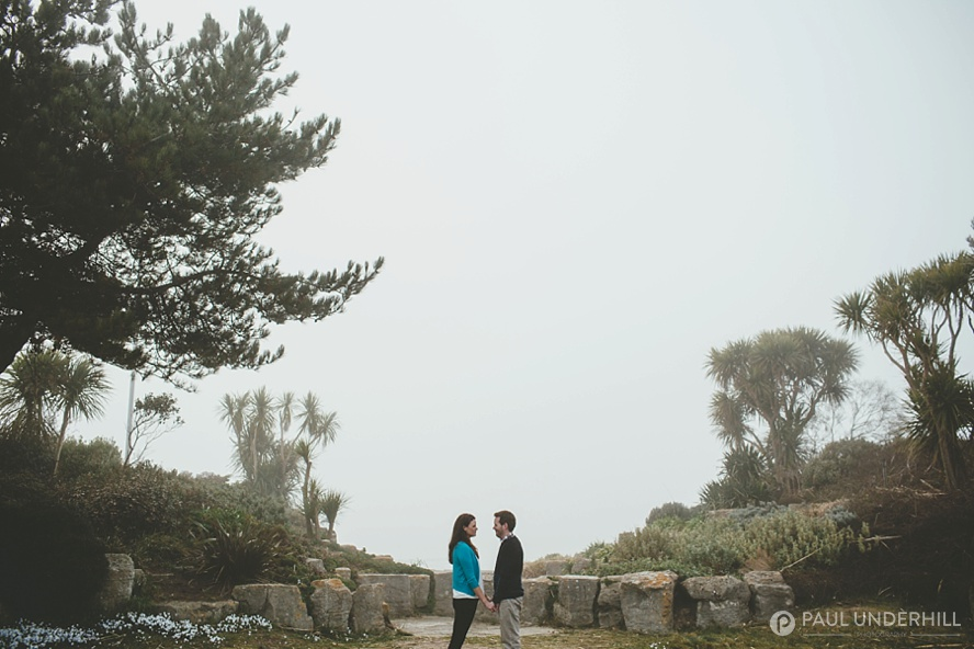 Sea fog Sandbanks Poole Dorset