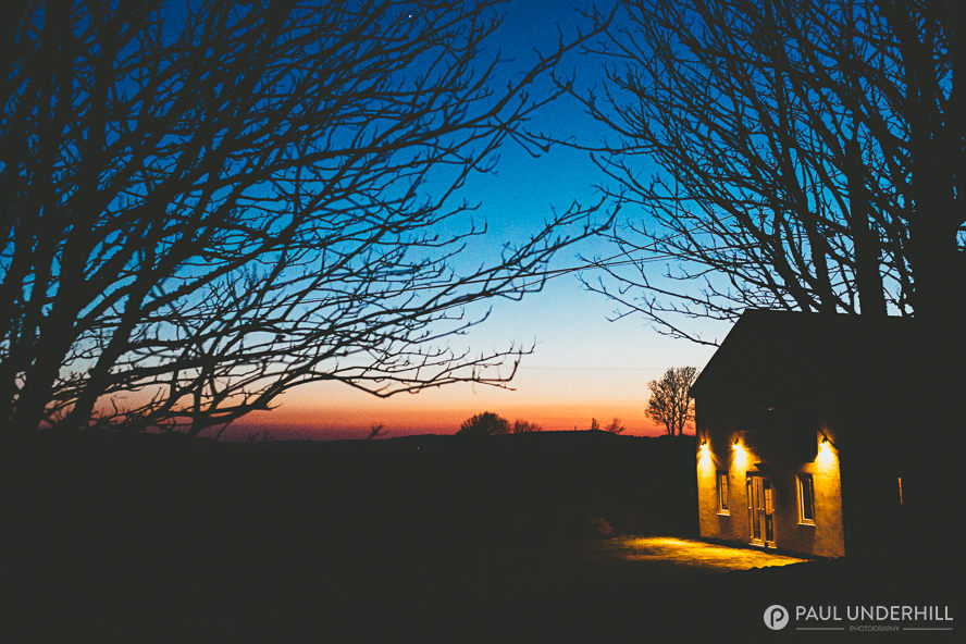 Sunset at Dorset wedding