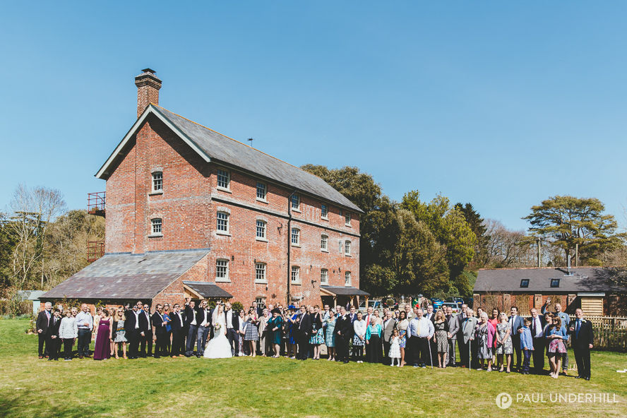 Wedding group portrait Sopley Mill