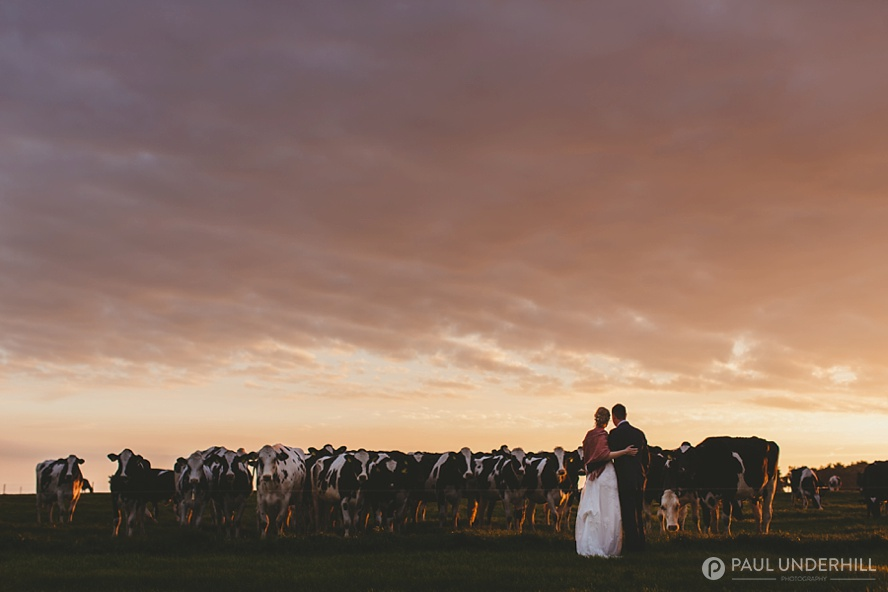 Dorset wedding sunset portraits
