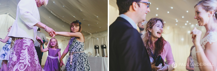 Fun moments captured of wedding guests