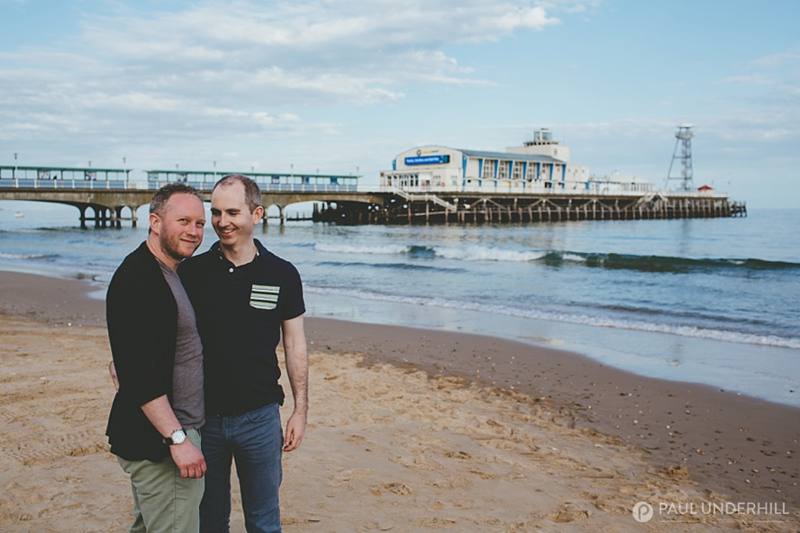 Gay couple photography Bournemouth