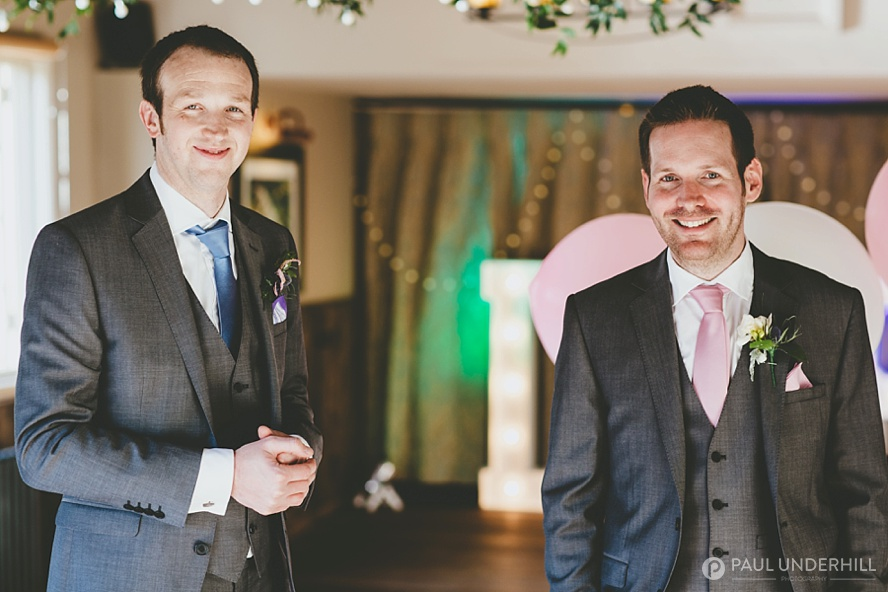 Groom and bestman at Surrey wedding