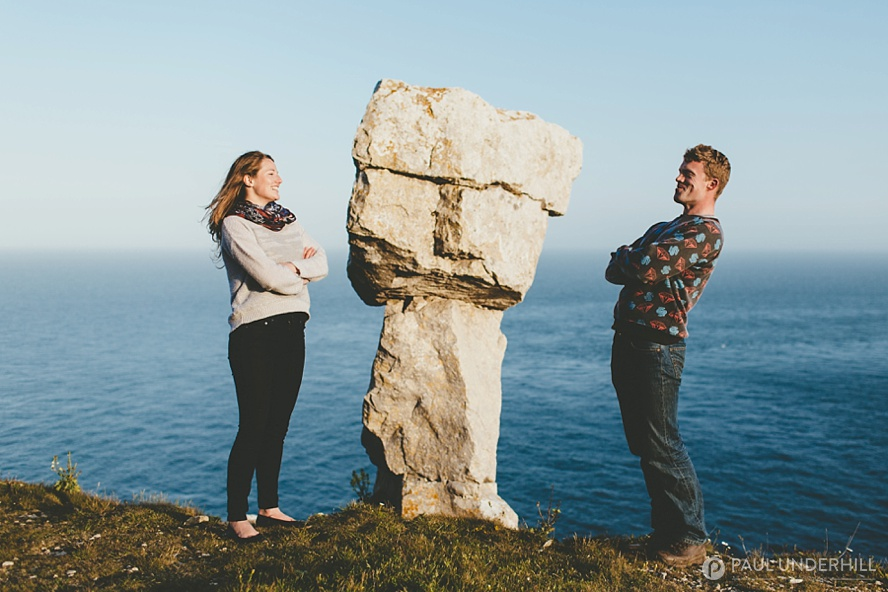 Jurassic coastline pre wedding shoot