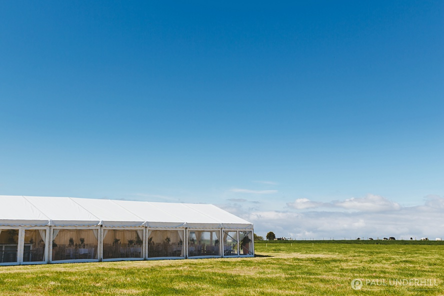 Marquee wedding in Dorset