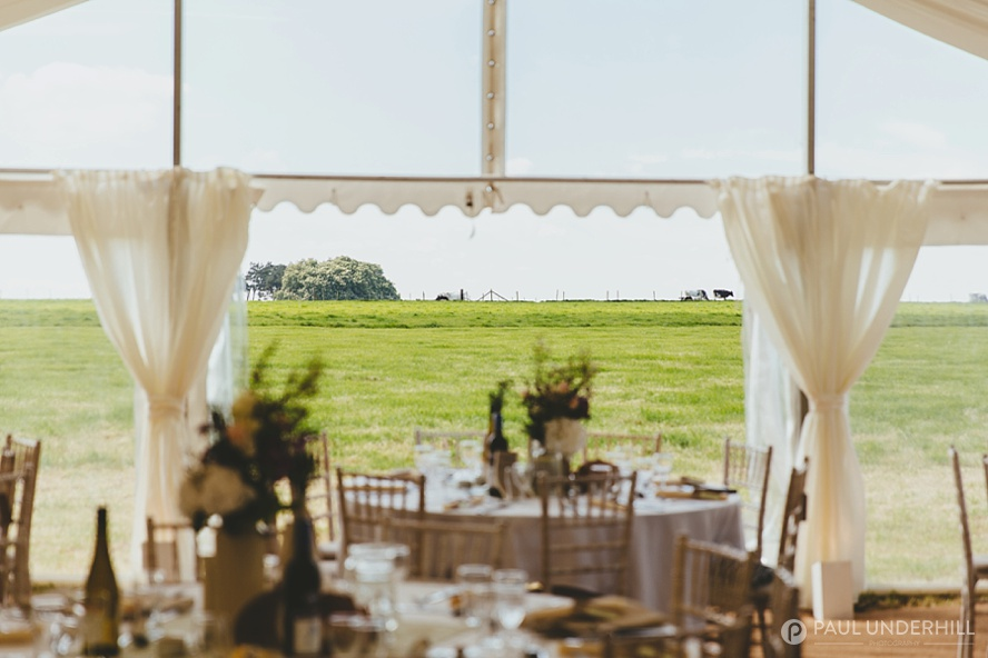 Marquee wedding on a farm in Dorset