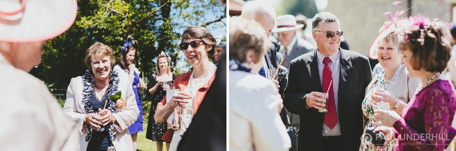 Reportage photography of wedding guests