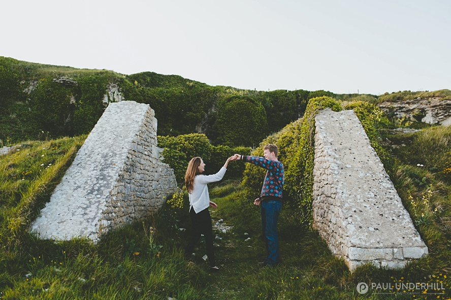 St Aldhelms Head pre wedding shoot