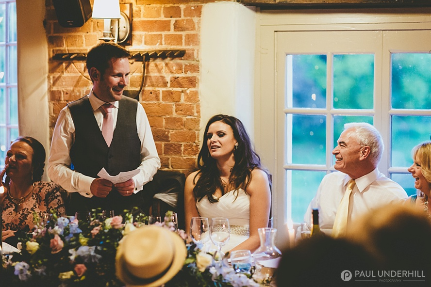 Surrey wedding venues speeches