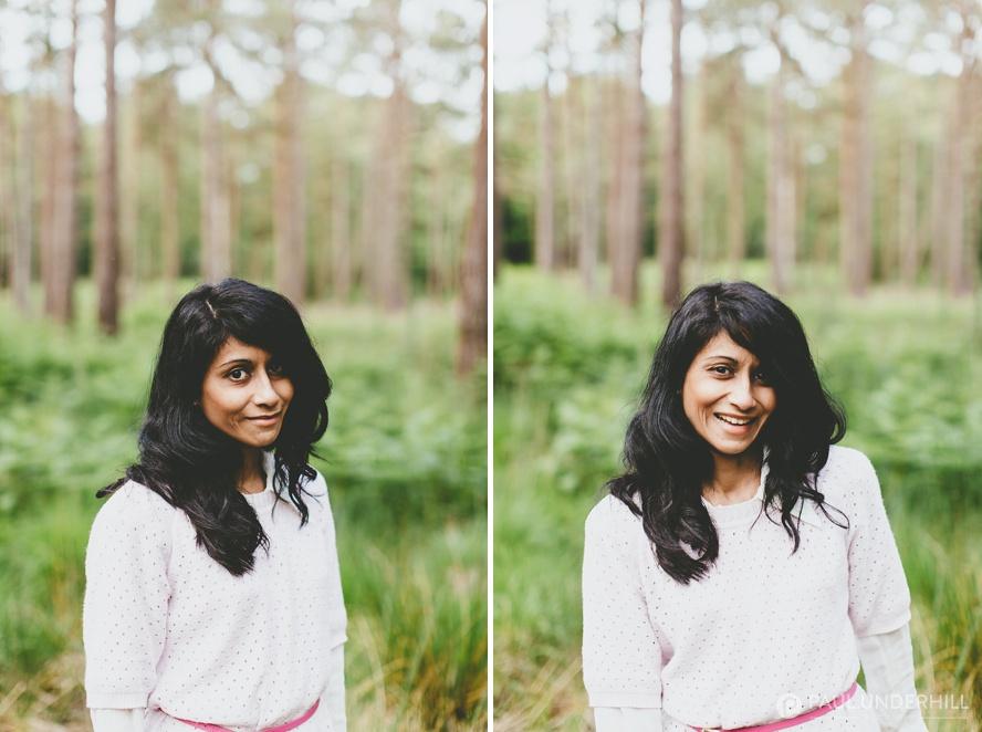 Bride portraits New Forest Hampshire