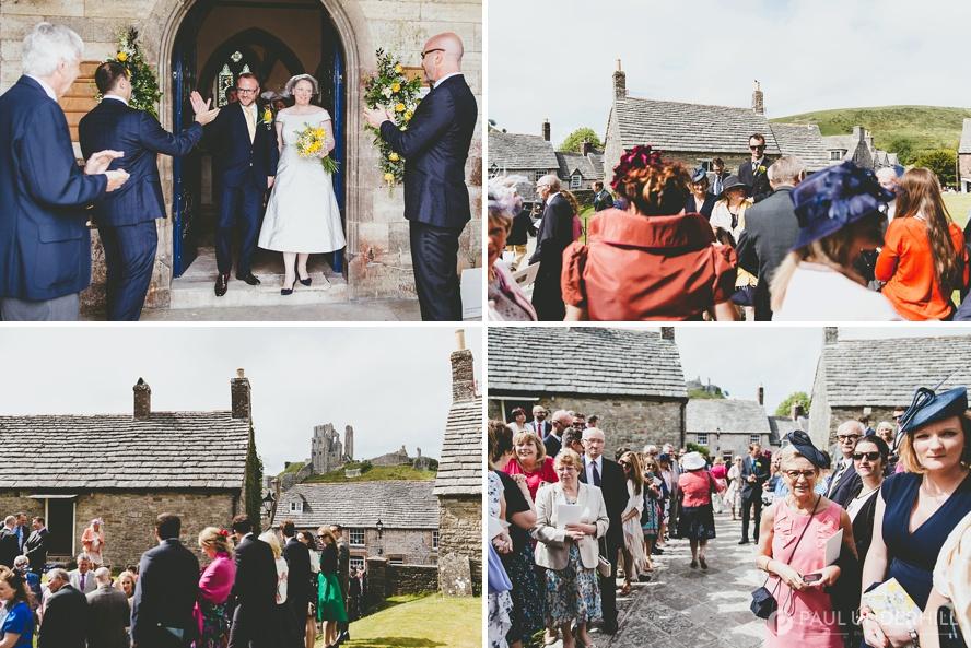 Corfe Castle village wedding photography