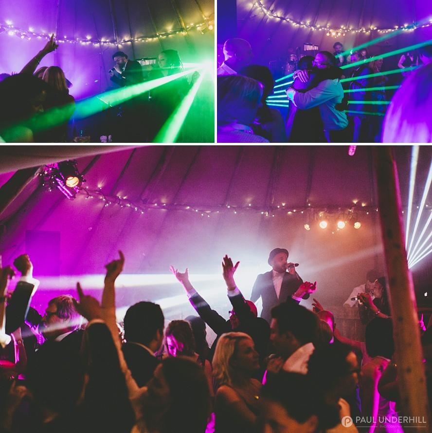 DJ and live band at Dorset wedding
