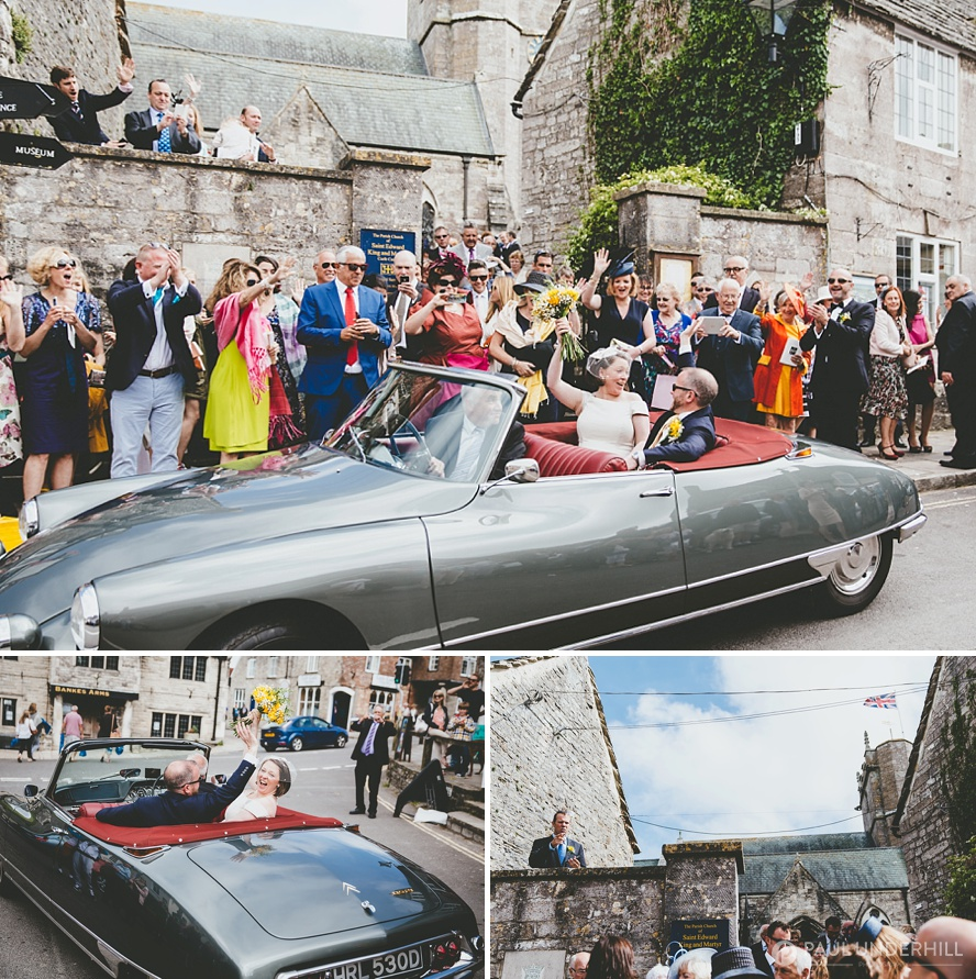 Documentary photography vintage wedding car