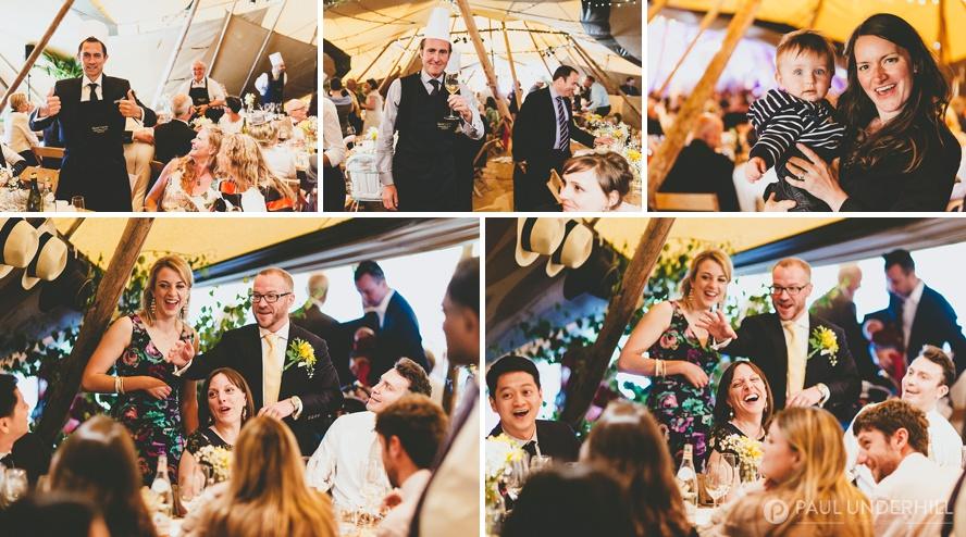 Dorset wedding reception in a tipi
