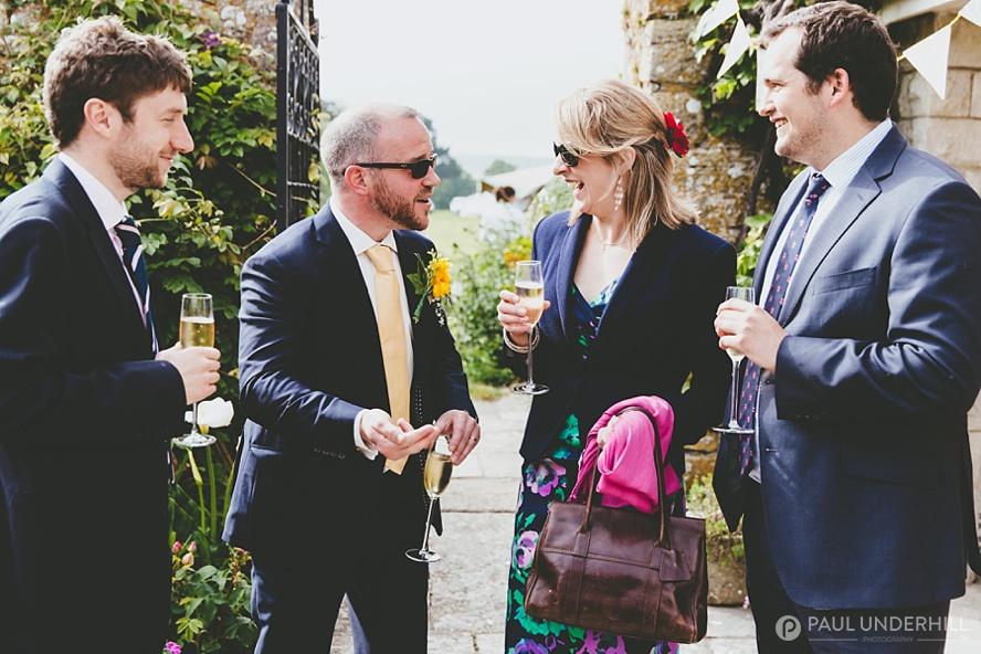 Drinks reception Smedmore House wedding