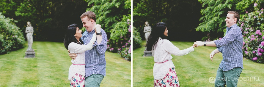 Fun couples photography Rhinefield House