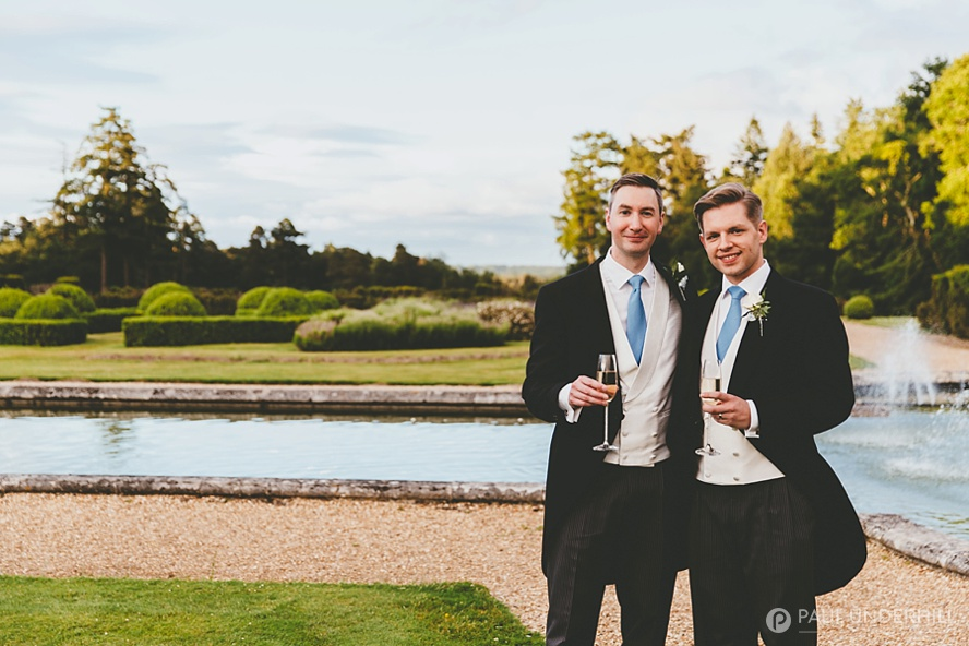 Gay couple portraits Rhinefield House wedding