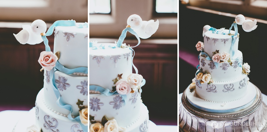 Gay wedding cake pastel blue