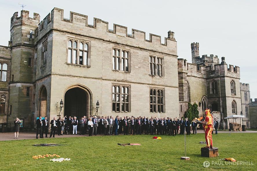 Jester performing Warwick Castle