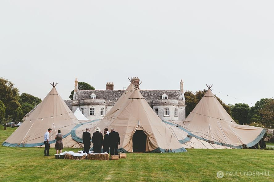 Smedmore House and Tipi wedding reception