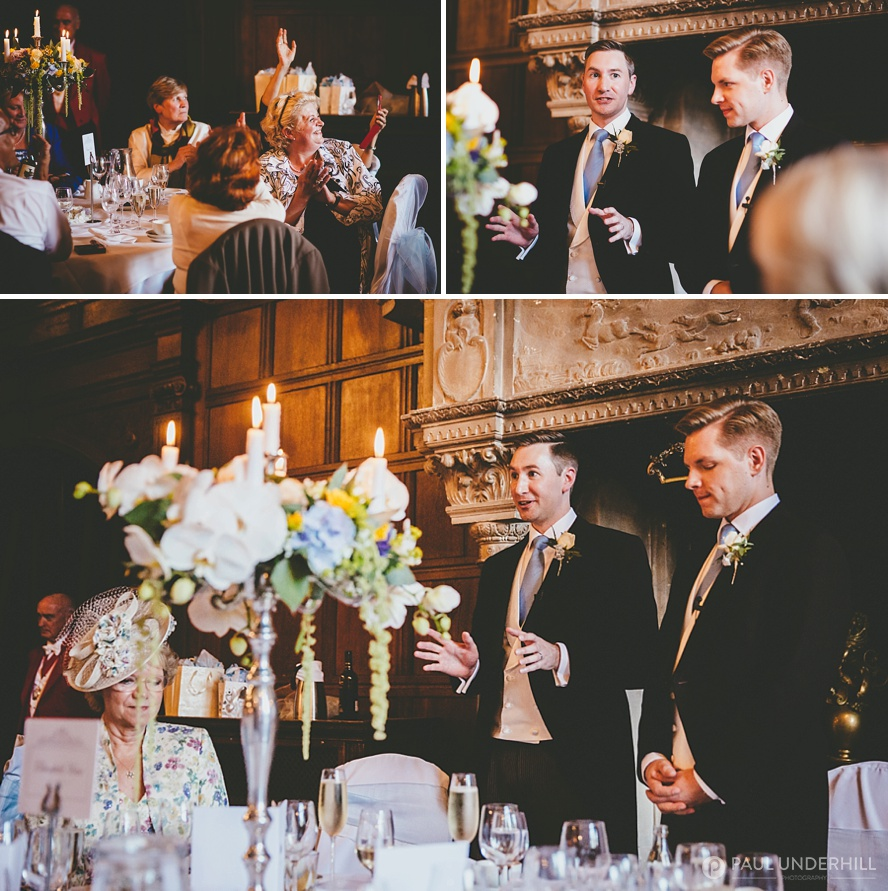 Speeches at Rhinefield wedding
