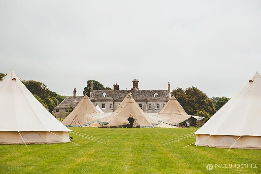 Tipi wedding Smedmore House Dorset