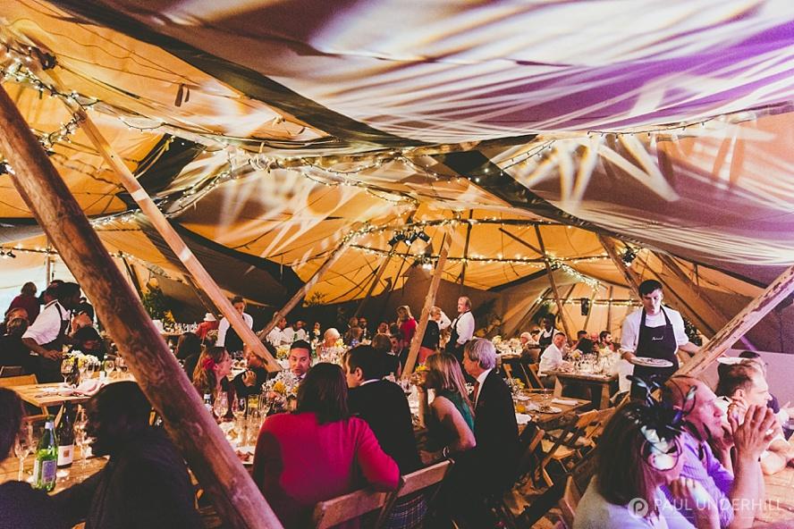 Tipi wedding lighting and production