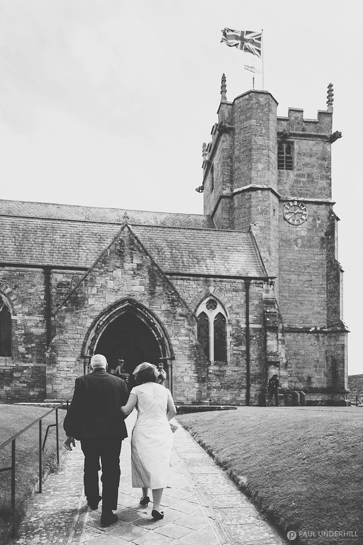 Wedding at Corfe village church in Dorset
