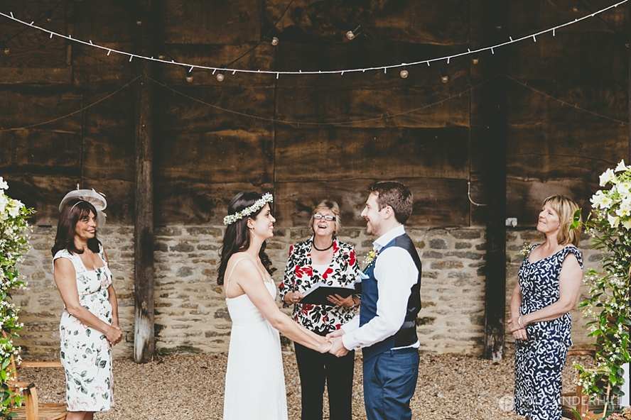 Barn wedding in Dorset