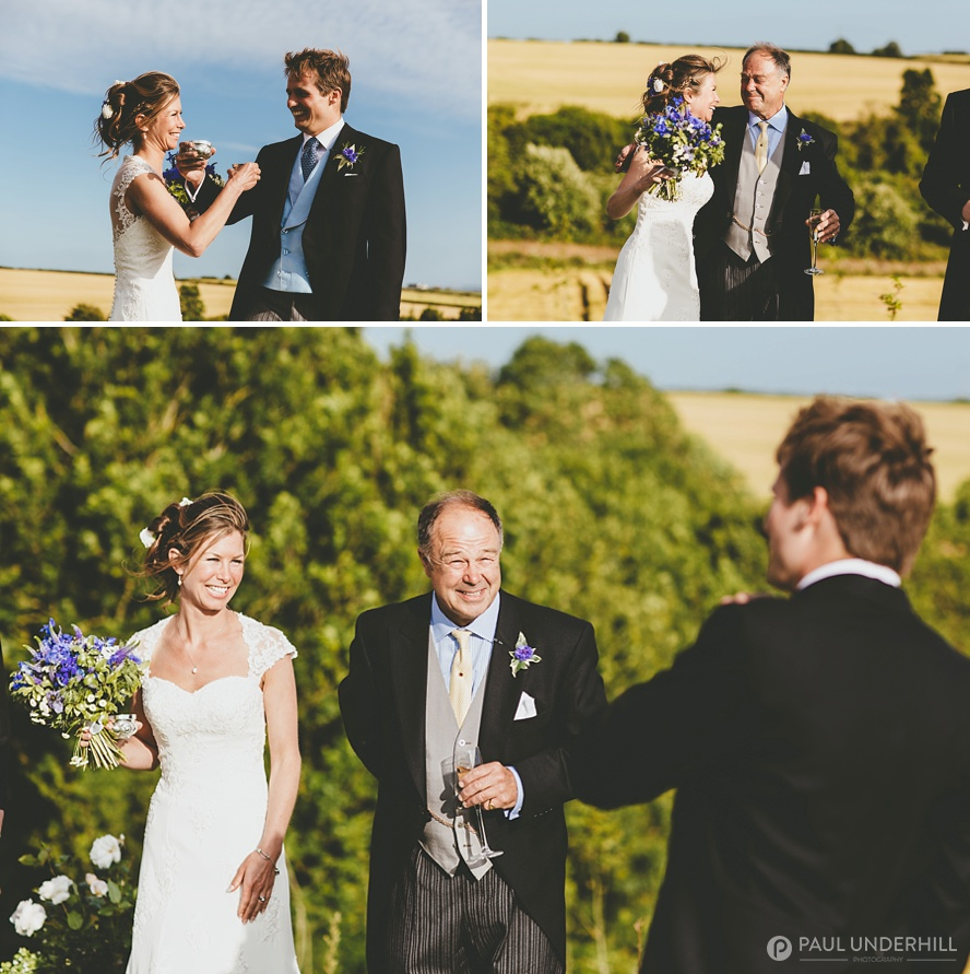 Bride and father reportage portraits