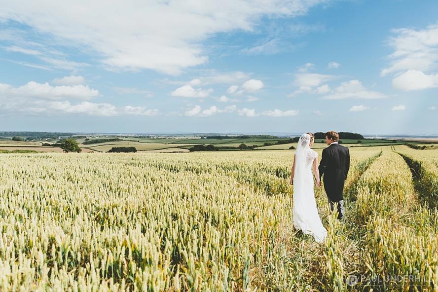 Bride and groom portrait in Dorset