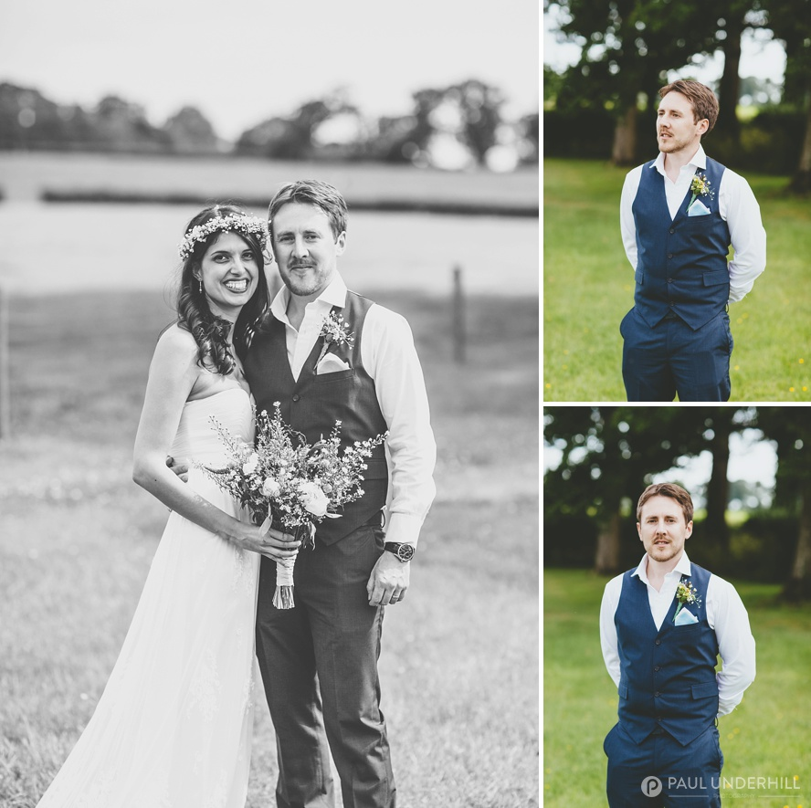 Bride and groom portraits in Dorset