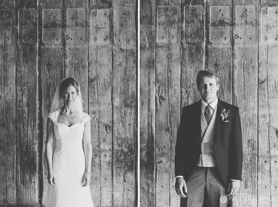 Bride and groom portraits in Dorset