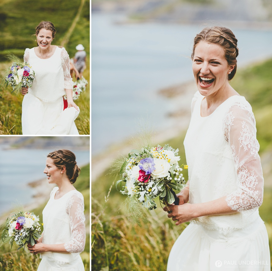 Bride portraits in Dorset