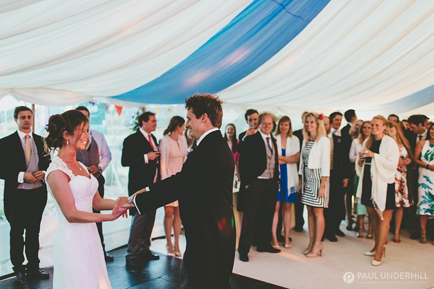 Bridea and groom first dance