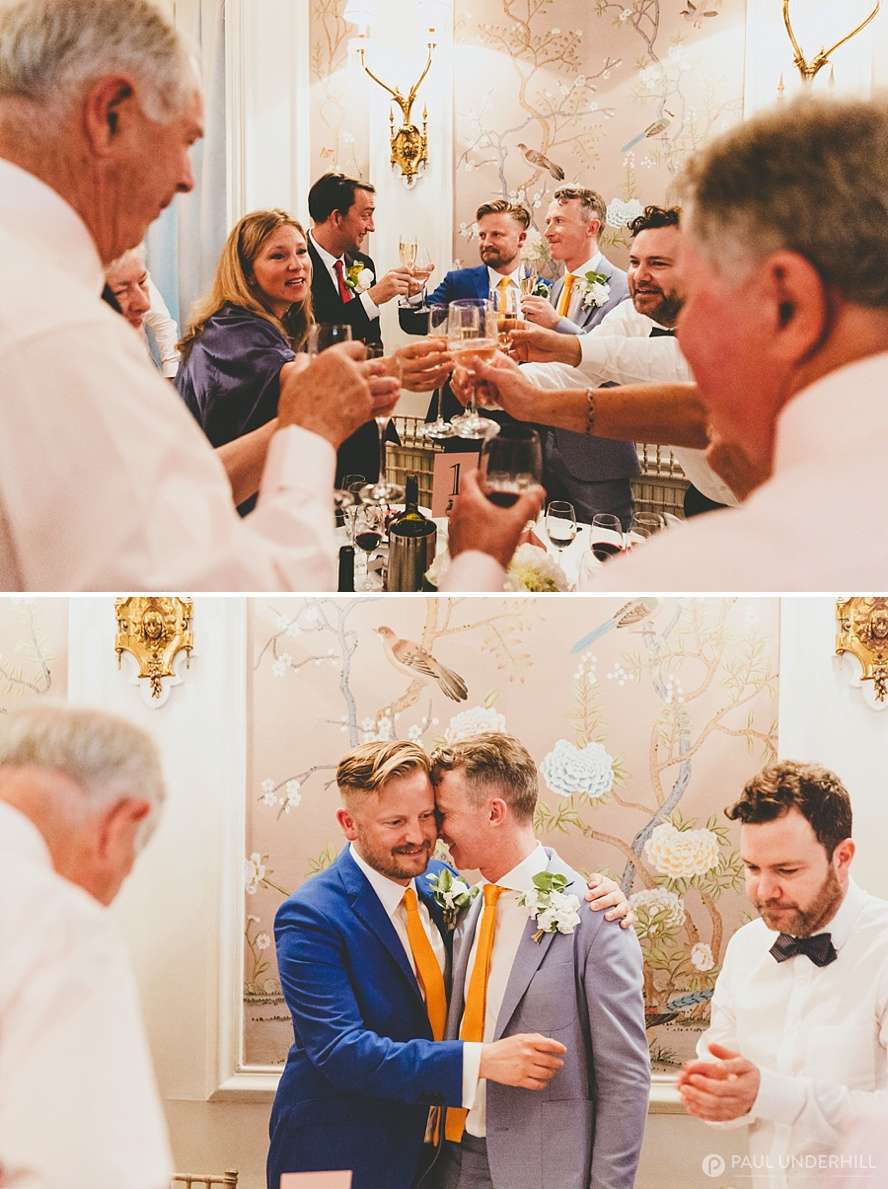 Candid photos of gay couple at wedding