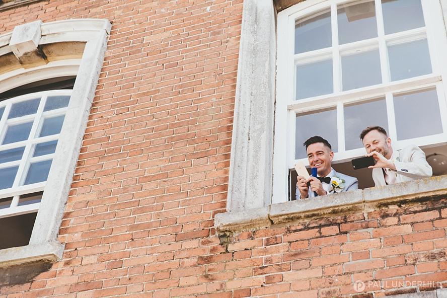 Candid portraits gay wedding