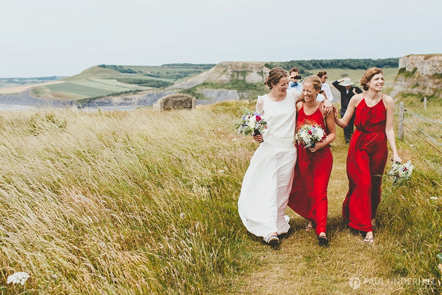 Candid portraits of bride and bridesmaids
