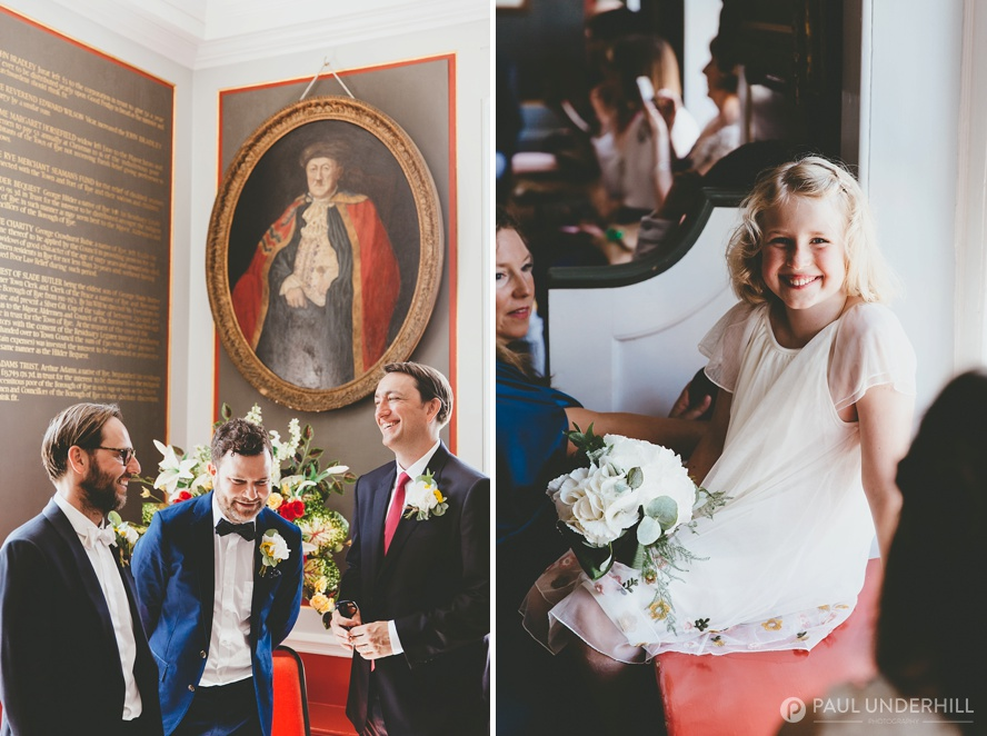 Candid portraits of wedding guests