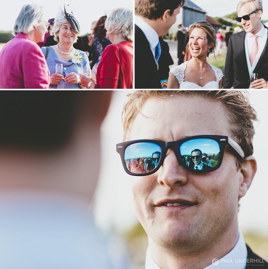 Close up portrait of wedding guest